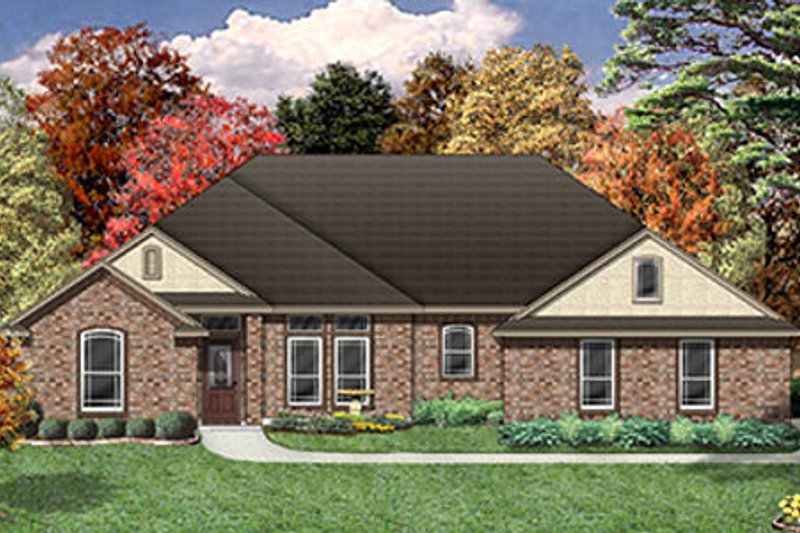 Traditional Exterior - Front Elevation Plan #84-478 - Houseplans.com