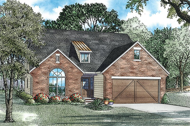 Architectural House Design - Country Exterior - Front Elevation Plan #17-2472