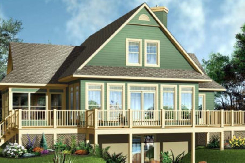 Country Exterior - Front Elevation Plan #23-849 - Houseplans.com