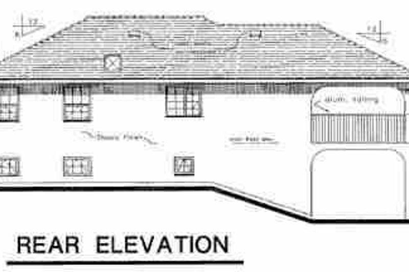 European Exterior - Rear Elevation Plan #18-302 - Houseplans.com