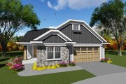 Craftsman Style House Plan - 2 Beds 2 Baths 1514 Sq/Ft Plan #70-1263 Exterior - Front Elevation