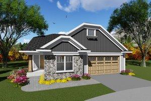 Craftsman Exterior - Front Elevation Plan #70-1263