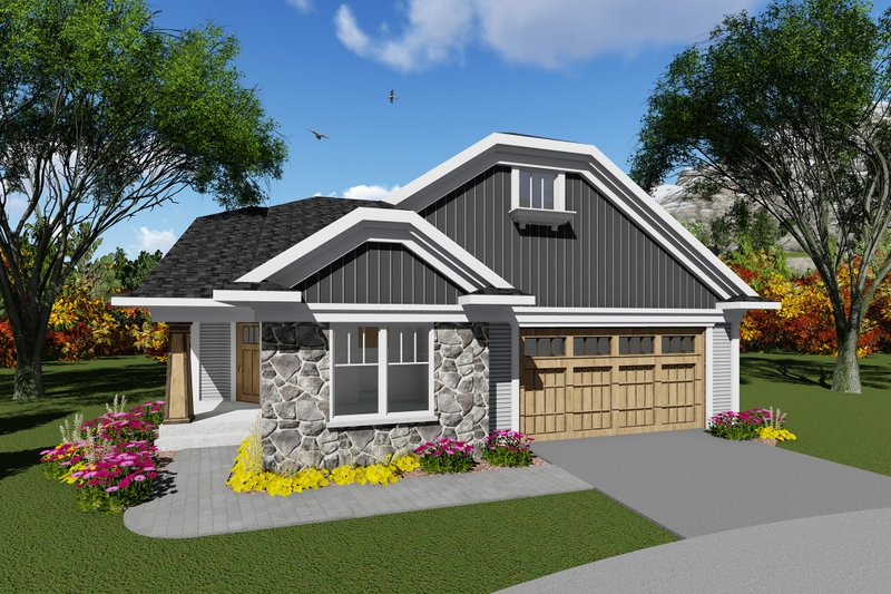 Dream House Plan - Craftsman Exterior - Front Elevation Plan #70-1263