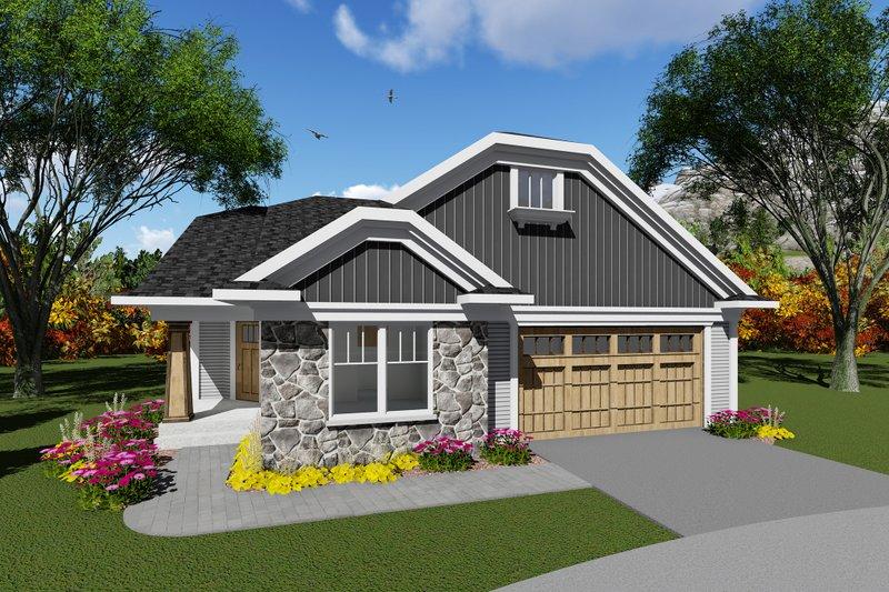 Dream House Plan - Craftsman Exterior - Front Elevation Plan #70-1263