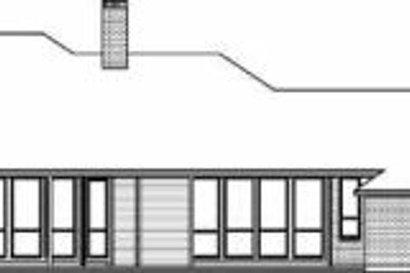 Traditional Exterior - Rear Elevation Plan #84-150 - Houseplans.com