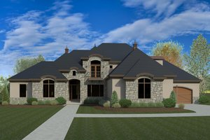 European Exterior - Front Elevation Plan #920-87
