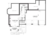 Craftsman Floor Plan - Lower Floor Plan Plan #48-665