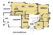 Modern Style House Plan - 4 Beds 3.5 Baths 3809 Sq/Ft Plan #1066-53 Floor Plan - Main Floor