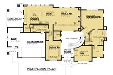 Modern Floor Plan - Main Floor Plan Plan #1066-53