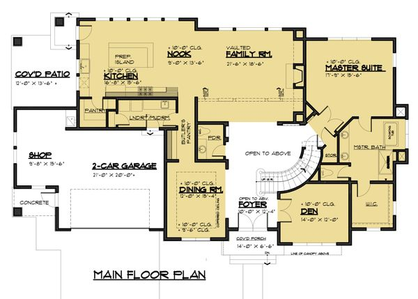 Modern Floor Plan - Main Floor Plan #1066-53