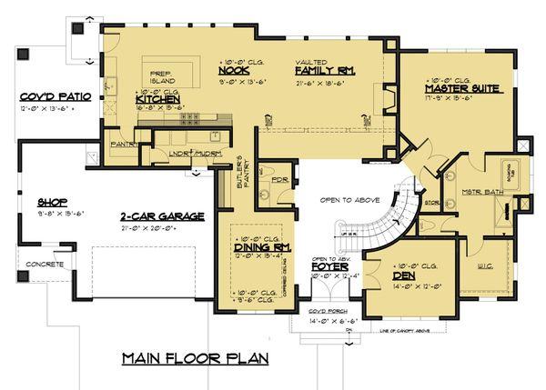 Modern Floor Plan - Main Floor Plan #1066-53