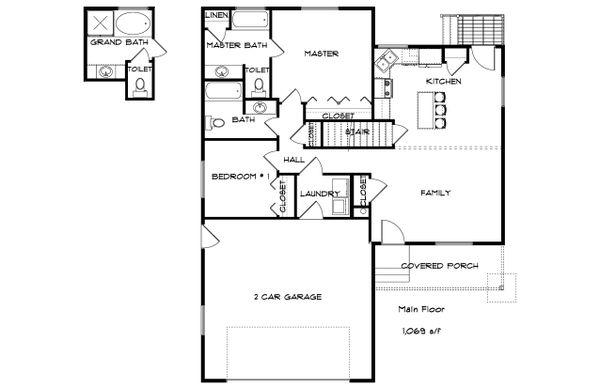 Traditional Floor Plan - Main Floor Plan #1060-54