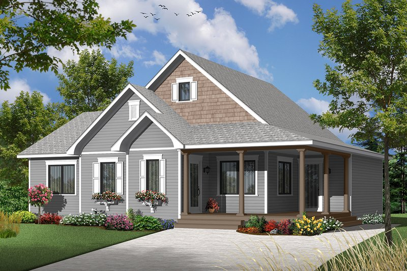 Architectural House Design - Ranch Exterior - Front Elevation Plan #23-2565