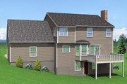 Farmhouse Style House Plan - 3 Beds 2.5 Baths 2012 Sq/Ft Plan #75-141 Exterior - Rear Elevation
