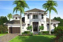 Beach Exterior - Front Elevation Plan #27-498