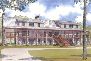 Craftsman Exterior - Front Elevation Plan #923-10