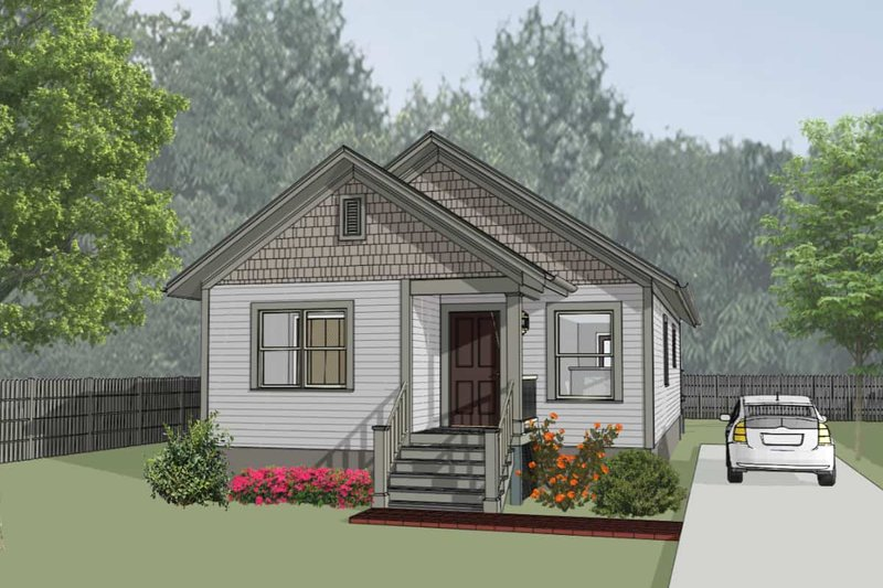 Cottage Style House Plan - 3 Beds 2 Baths 1080 Sq/Ft Plan #79-130 Exterior - Front Elevation
