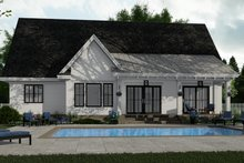 House Plan Design - Farmhouse Exterior - Rear Elevation Plan #51-1151