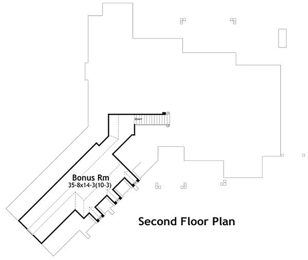Craftsman Floor Plan - Upper Floor Plan #120-191