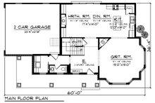 Country Floor Plan - Main Floor Plan Plan #70-1222