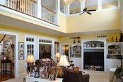 Southern Style House Plan - 4 Beds 4.5 Baths 3728 Sq/Ft Plan #137-128 Interior - Family Room