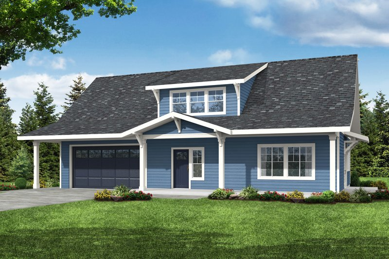 House Plan Design - Country Exterior - Front Elevation Plan #124-1228