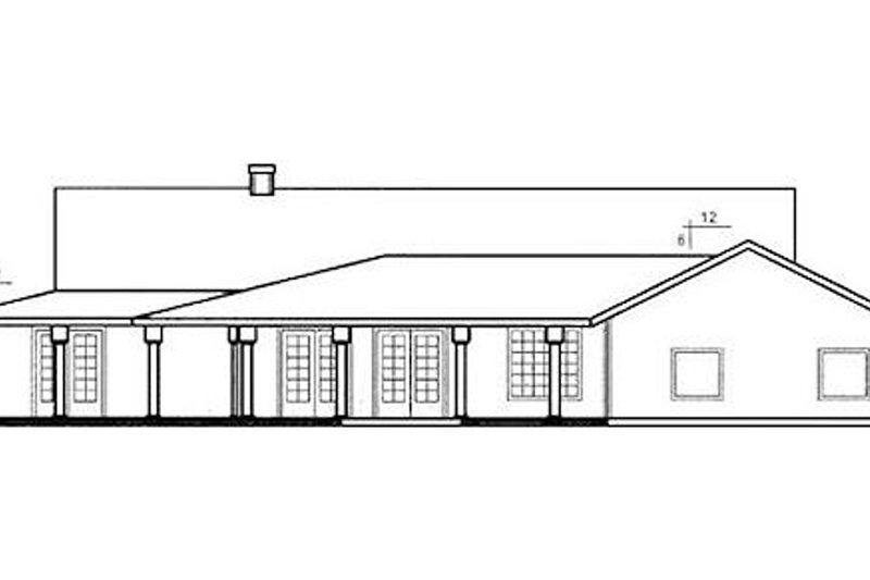 Traditional Exterior - Rear Elevation Plan #60-649 - Houseplans.com