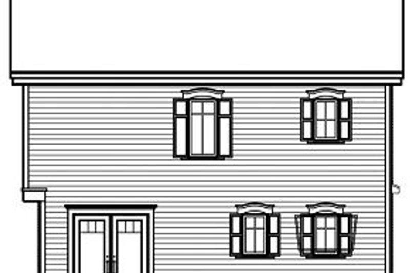 Traditional Exterior - Rear Elevation Plan #23-737 - Houseplans.com