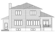 Modern Style House Plan - 3 Beds 2.5 Baths 2410 Sq/Ft Plan #138-357 Exterior - Rear Elevation