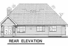 House Design - Traditional Exterior - Rear Elevation Plan #18-281