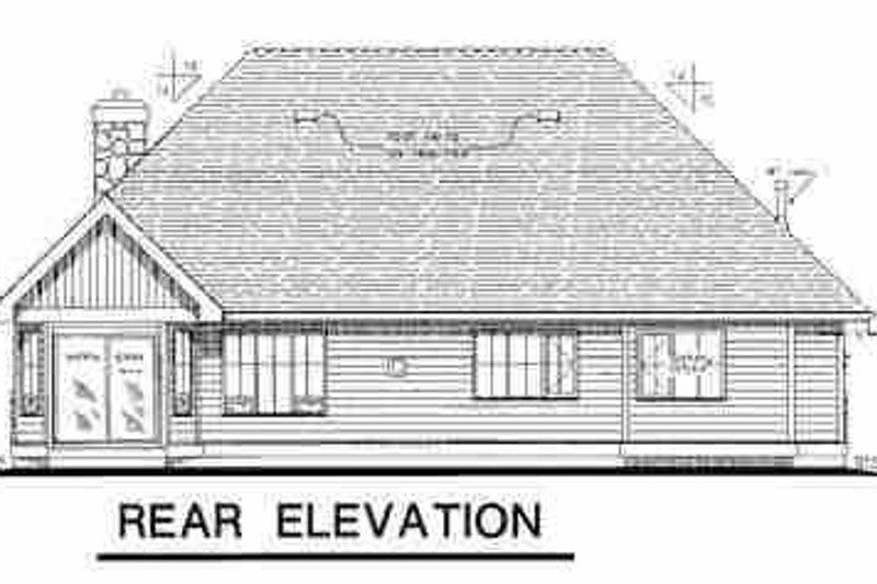 Traditional Exterior - Rear Elevation Plan #18-281 - Houseplans.com