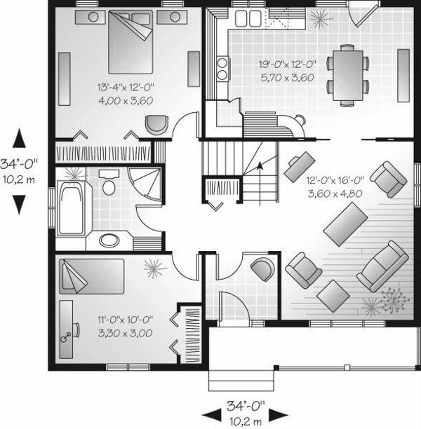 Dream House Plan - Cottage Floor Plan - Main Floor Plan #23-685