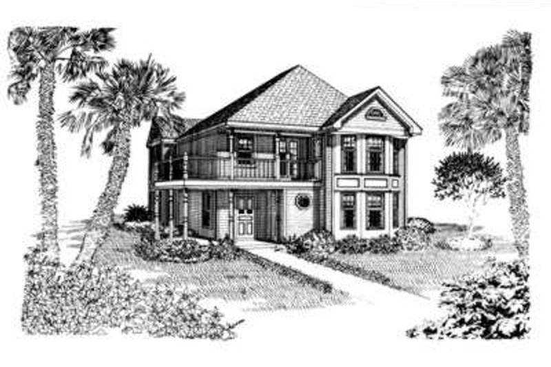 Cottage Exterior - Front Elevation Plan #410-297