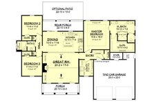 Farmhouse Floor Plan - Main Floor Plan Plan #430-188