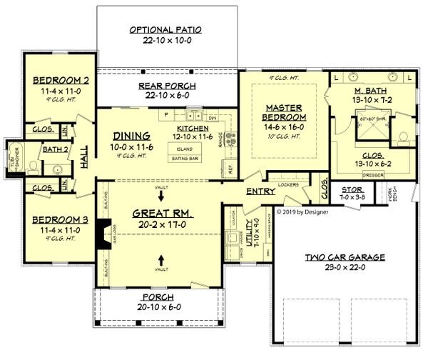 Farmhouse Floor Plan - Main Floor Plan Plan #430-188