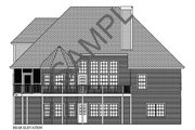 Traditional Style House Plan - 4 Beds 4 Baths 2470 Sq/Ft Plan #56-540 Exterior - Rear Elevation