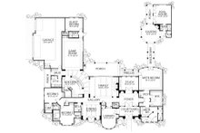 Mediterranean Floor Plan - Main Floor Plan Plan #80-124