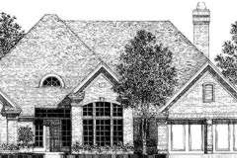 European Style House Plan - 3 Beds 2.5 Baths 2356 Sq/Ft Plan #310-124 Exterior - Front Elevation