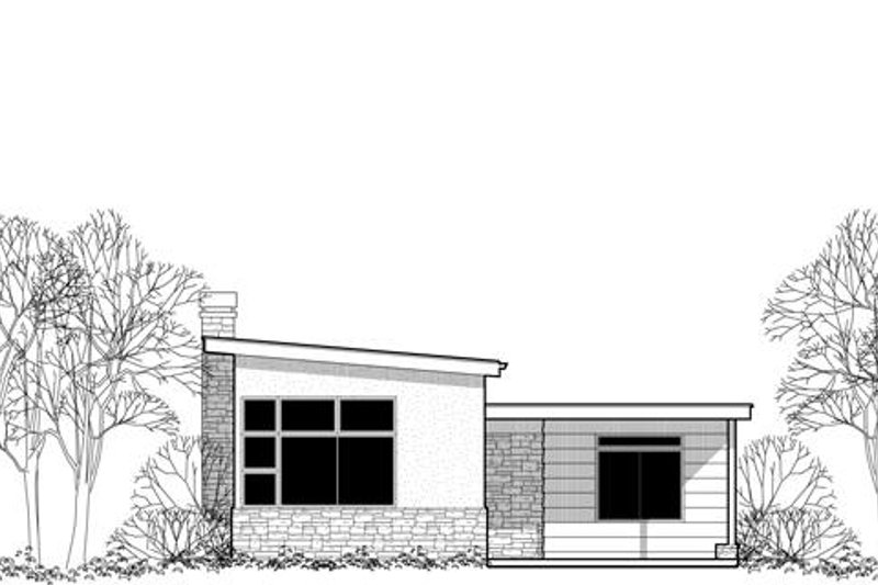 Modern Exterior - Front Elevation Plan #48-474
