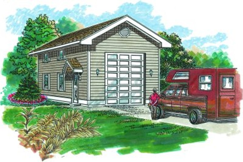 Traditional Exterior - Front Elevation Plan #47-502