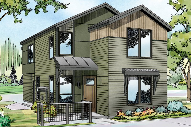 Home Plan - Exterior - Front Elevation Plan #124-1004