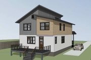 Contemporary Style House Plan - 3 Beds 2.5 Baths 2007 Sq/Ft Plan #79-316 Exterior - Other Elevation