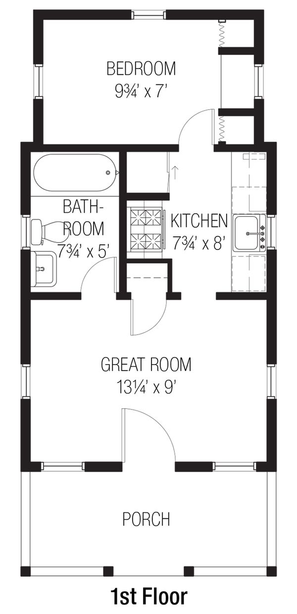 Cottage Floor Plan - Main Floor Plan #915-4