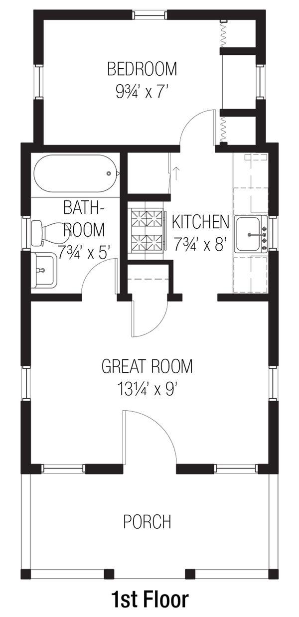 Cottage Floor Plan - Main Floor Plan #915-4