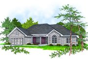 Traditional Style House Plan - 3 Beds 2 Baths 1802 Sq/Ft Plan #70-209 Exterior - Front Elevation