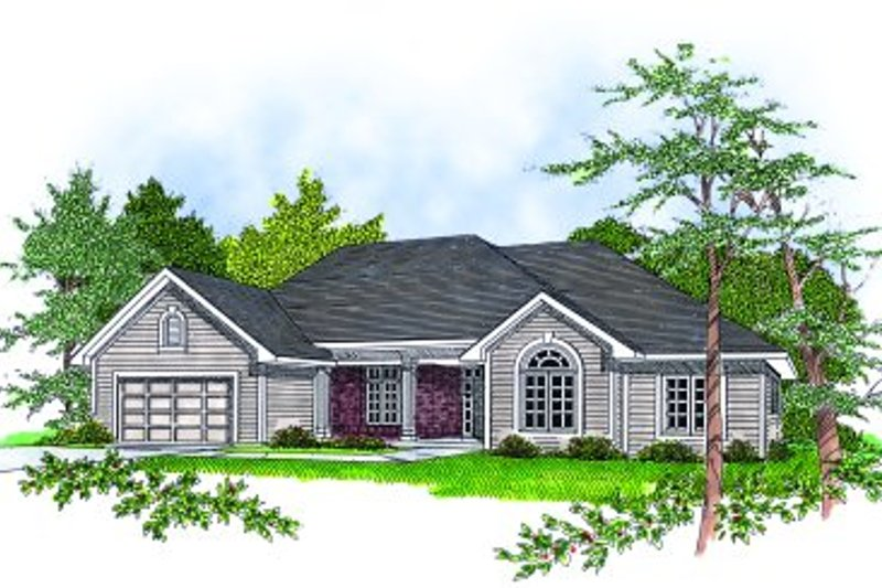 Dream House Plan - Traditional Exterior - Front Elevation Plan #70-209