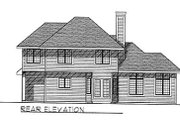 Traditional Style House Plan - 4 Beds 2.5 Baths 2315 Sq/Ft Plan #70-368 Exterior - Rear Elevation