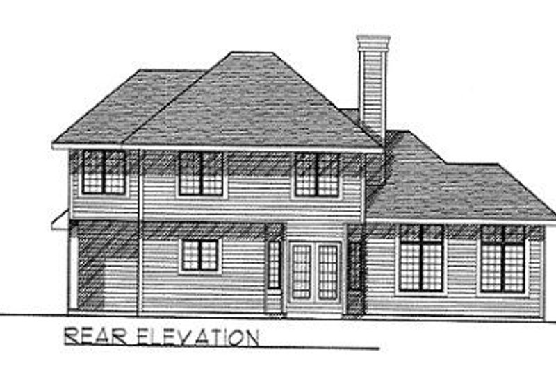 Traditional Exterior - Rear Elevation Plan #70-368 - Houseplans.com
