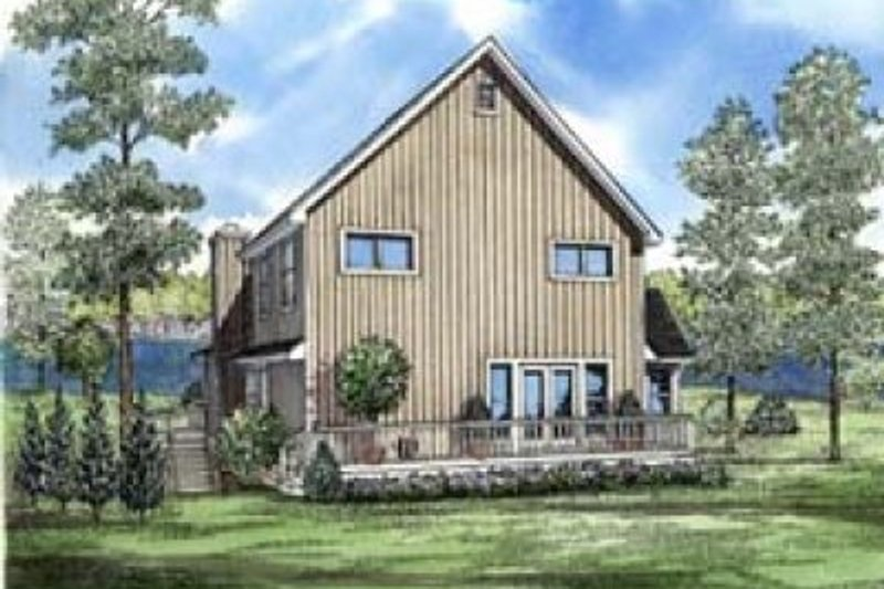 House Plan - 3 Beds 2.5 Baths 2054 Sq/Ft Plan #17-248 Exterior - Front Elevation