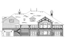 Home Plan - European Exterior - Rear Elevation Plan #5-445